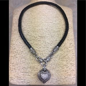 Judith Ripka Sterling Diamonique Heart Necklace